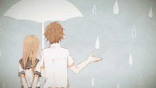 别人在等人送伞,而我却在等雨停